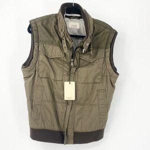 Zara Man Basic cargo zip up Vest